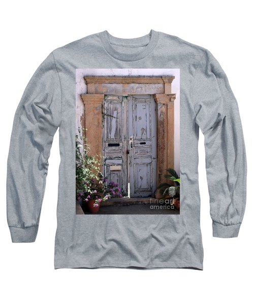 Ancient Garden Doors In Greece Long Sleeve T-Shirt