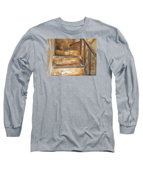 Ancient Stairway Long Sleeve T-Shirt by Roberta Byram