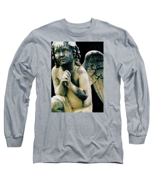 Long Sleeve T-Shirt featuring the digital art Angel 2 by Maria Huntley