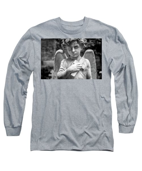 Long Sleeve T-Shirt featuring the photograph Angel And Cross by Sonny Marcyan
