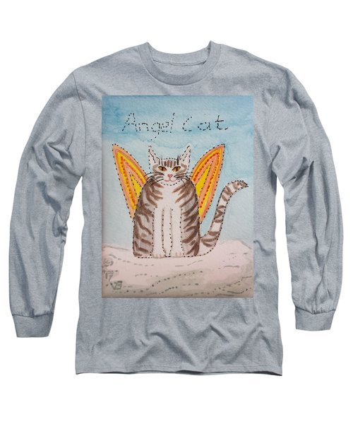 Angel Cat Long Sleeve T-Shirt