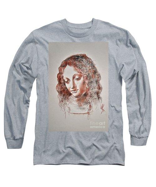 Angel Madonna Long Sleeve T-Shirt by Maja Sokolowska
