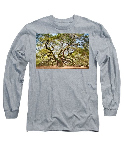 Long Sleeve T-Shirt featuring the photograph Angel Oak In Spring by Patricia Schaefer