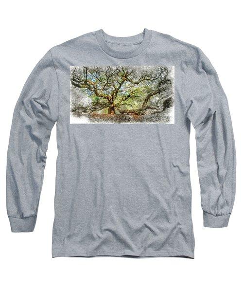 Angel Oak Mixed Media Long Sleeve T-Shirt
