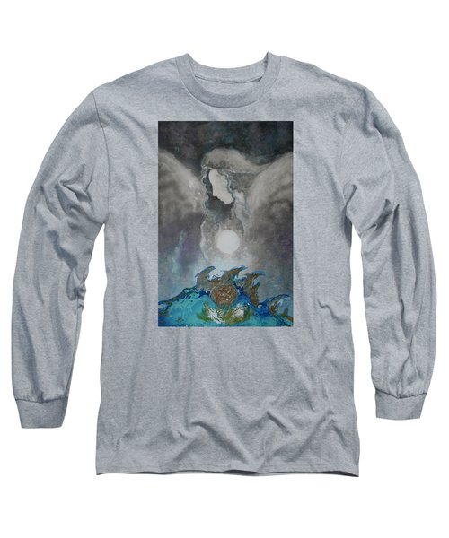 Angels And Dolphins Healing Sanctuary Long Sleeve T-Shirt