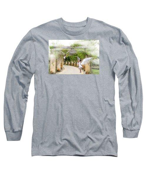 Angels Under The Arbor Long Sleeve T-Shirt by Rosalie Scanlon