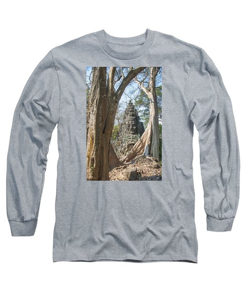 Long Sleeve T-Shirt featuring the photograph Angkor Thom South Gate by Rob Hemphill