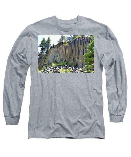 Angle View Desert Postpile Long Sleeve T-Shirt
