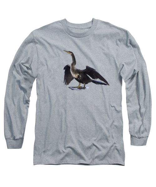 Anhinga Drying Wings Transparency Long Sleeve T-Shirt