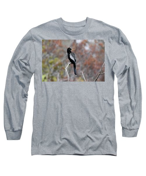 Long Sleeve T-Shirt featuring the photograph Anhinga by Gary Wightman