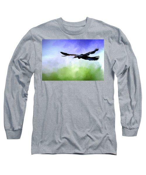 Anhinga In Flight Long Sleeve T-Shirt