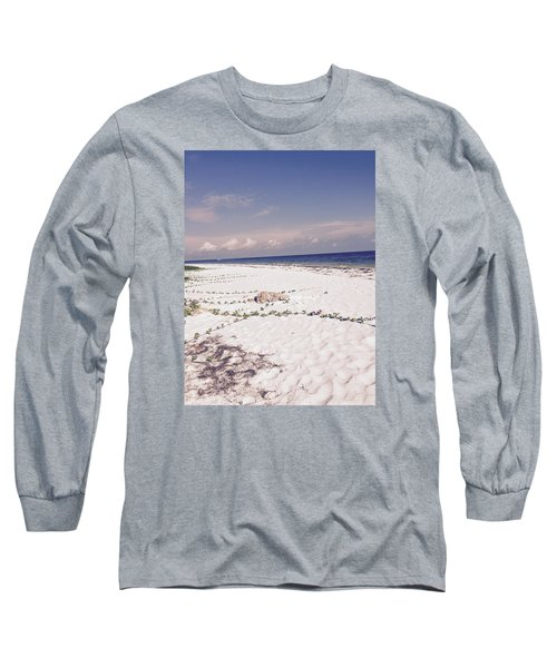 Long Sleeve T-Shirt featuring the photograph Anna Maria Island Beyond The White Sand by Jean Marie Maggi