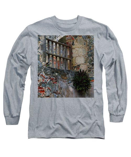 Long Sleeve T-Shirt featuring the photograph Annaberg Ruin Brickwork At U.s. Virgin Islands National Park by Jetson Nguyen