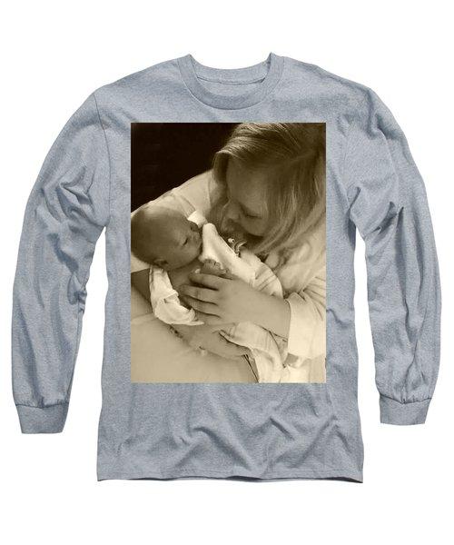 Annah With Newborn  Long Sleeve T-Shirt by Ellen O'Reilly