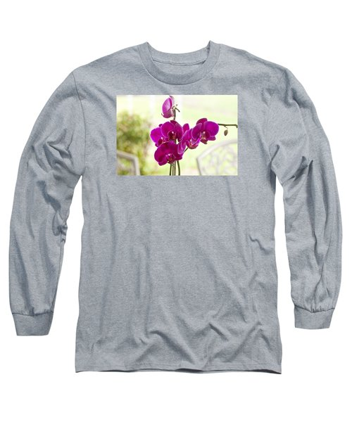 Long Sleeve T-Shirt featuring the photograph Anniversary Orchids by Joan Bertucci