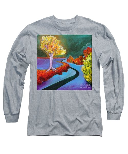 Golden Aura Long Sleeve T-Shirt by Elizabeth Fontaine-Barr