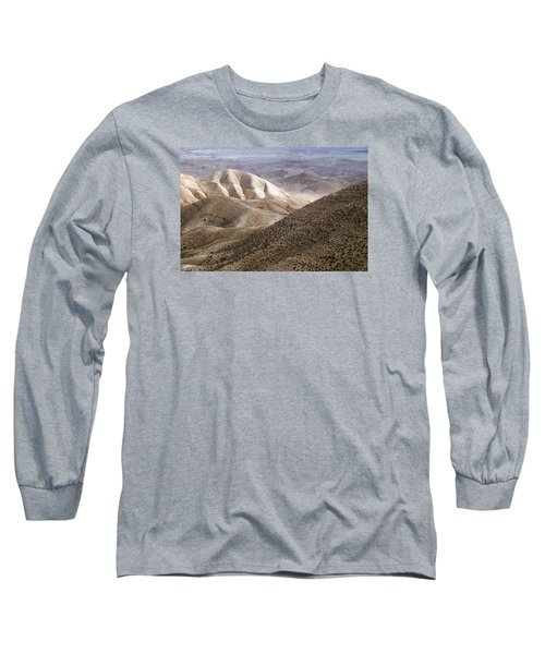 Another View From Masada Long Sleeve T-Shirt by Dubi Roman