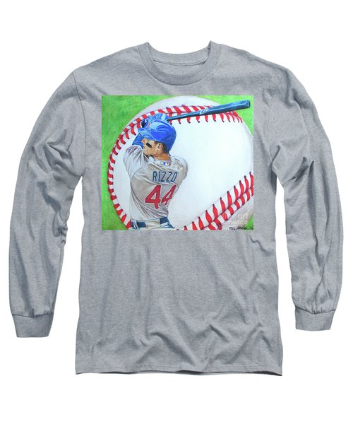 Anthony Rizzo 2016 Long Sleeve T-Shirt by Melissa Goodrich