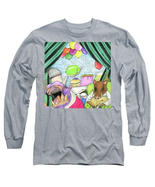 Anti Social Warthog Throws A Party Long Sleeve T-Shirt