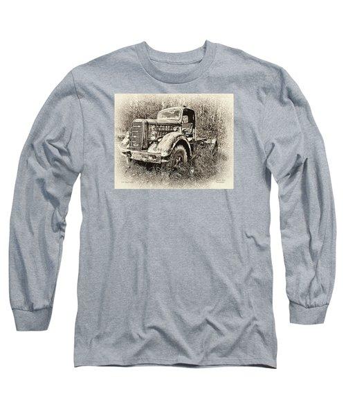 Antique 1947 Mack Truck Long Sleeve T-Shirt by Mark Allen