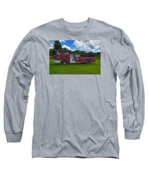 Antique Fire Truck Long Sleeve T-Shirt by Ronald Olivier