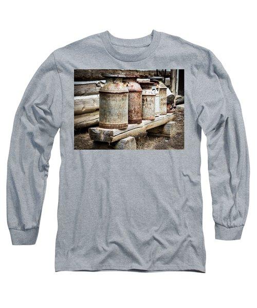 Antique Milk Cans Long Sleeve T-Shirt