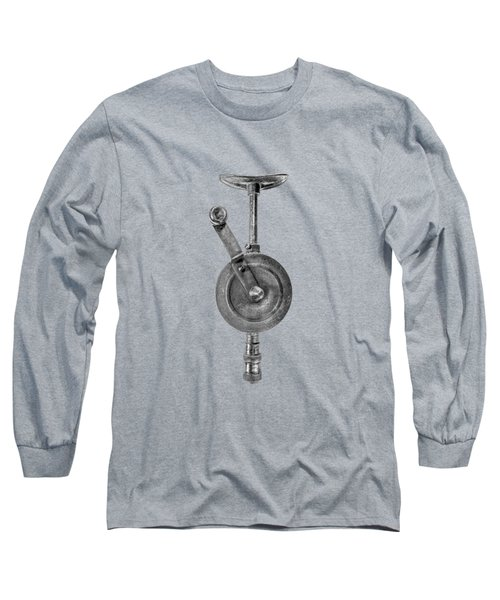Antique Shoulder Drill Front Bw Long Sleeve T-Shirt by YoPedro