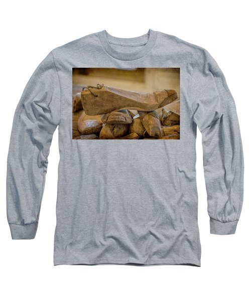 Antique Wooden Shoe Forms - 2 Long Sleeve T-Shirt