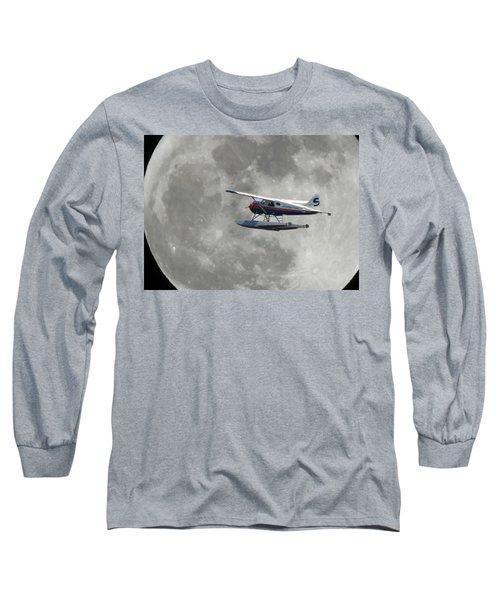 Long Sleeve T-Shirt featuring the photograph Aop And The Full Moon by Mark Alan Perry