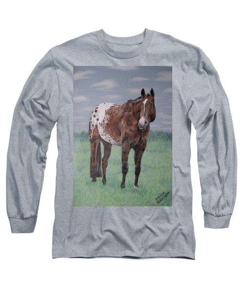 Appaloosa Long Sleeve T-Shirt by Melita Safran