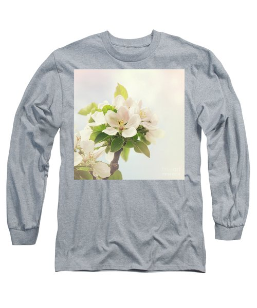 Apple Blossom Retro Style Processing Long Sleeve T-Shirt