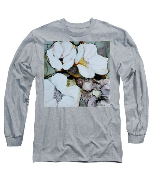 Long Sleeve T-Shirt featuring the painting Apple Blossoms by Joanne Smoley