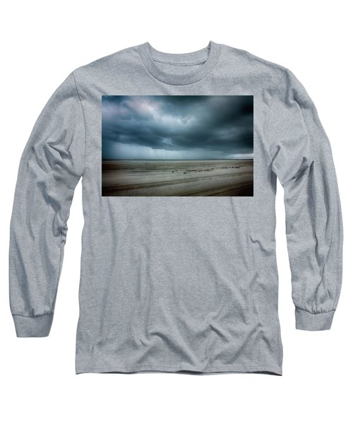 Approaching Storm On Ocracoke Outer Banks Long Sleeve T-Shirt by Dan Carmichael