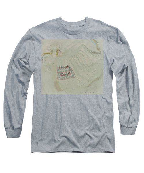 Apron On Canvas - Mixed Media Long Sleeve T-Shirt