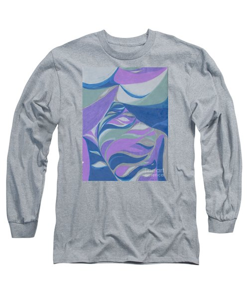 Long Sleeve T-Shirt featuring the drawing Aqueous by Kim Sy Ok