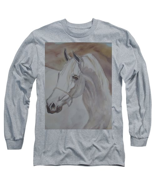 Arab Stallion In The Desert Long Sleeve T-Shirt