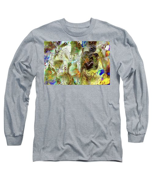 Arbitrary Color Opticality Long Sleeve T-Shirt by Don Gradner