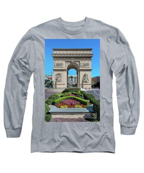 Arc De Triomphe Paris Casino Las Vegas Long Sleeve T-Shirt