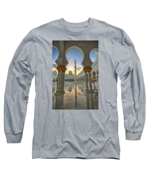 Long Sleeve T-Shirt featuring the photograph Arch Sunset Temple by John Swartz