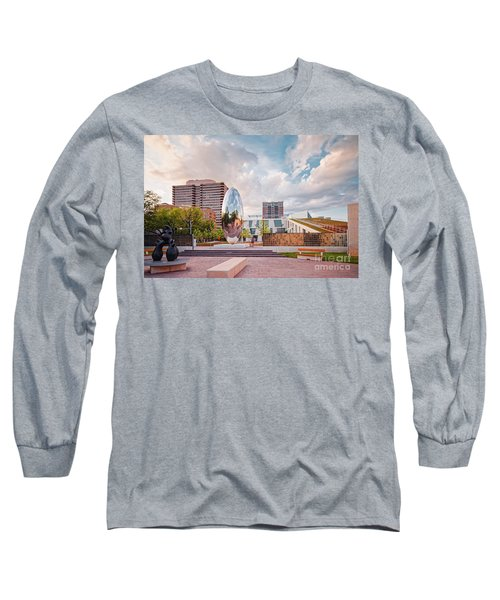 Architectural Photograph Of Anish Kapoor Cloud Column At The Glassell School Of Art - Mfa Houston  Long Sleeve T-Shirt