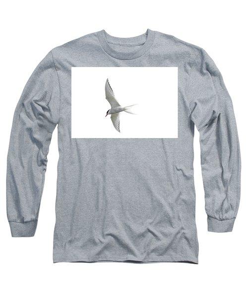 Arctic Tern Flying In Mist Long Sleeve T-Shirt