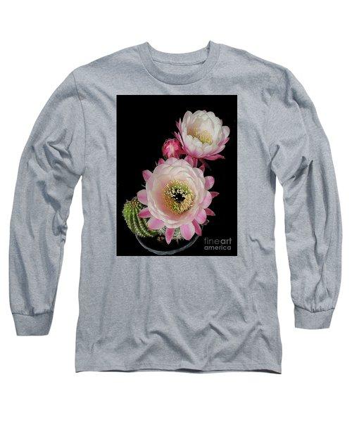 Arizona Desert Cactus Flowers Long Sleeve T-Shirt by Merton Allen