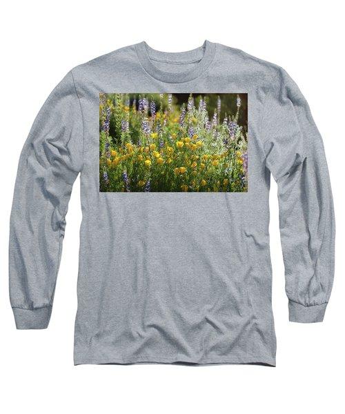 Long Sleeve T-Shirt featuring the photograph Arizona Spring Wildflowers  by Saija Lehtonen