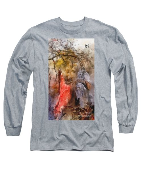 Long Sleeve T-Shirt featuring the painting Arrival by Mo T