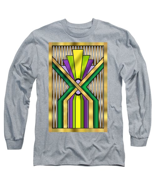 Art Deco 14 B Transparent Long Sleeve T-Shirt