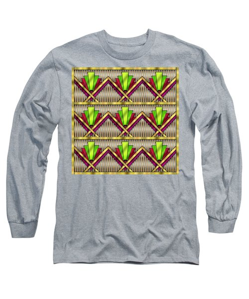 Long Sleeve T-Shirt featuring the digital art Art Deco Multiview 18  by Chuck Staley