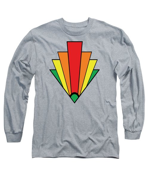 Art Deco Chevron - Chuck Staley Long Sleeve T-Shirt by Chuck Staley