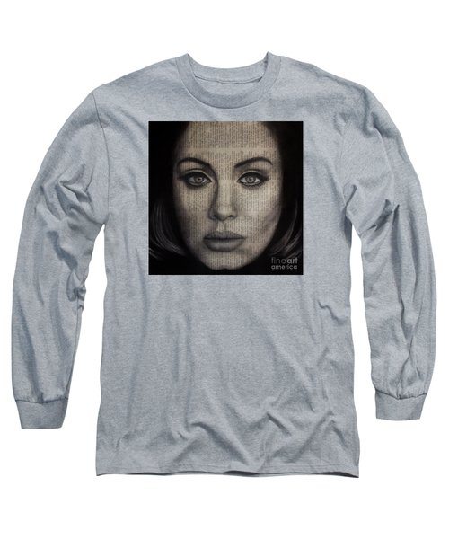 Art In The News 72-adele 25 Long Sleeve T-Shirt by Michael Cross