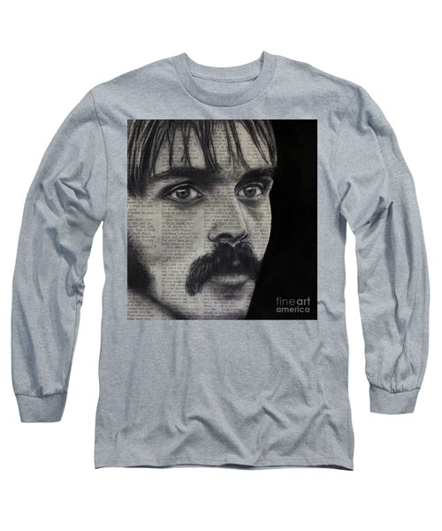 Long Sleeve T-Shirt featuring the photograph Art In The News 95-steve Prefontaine by Michael Cross