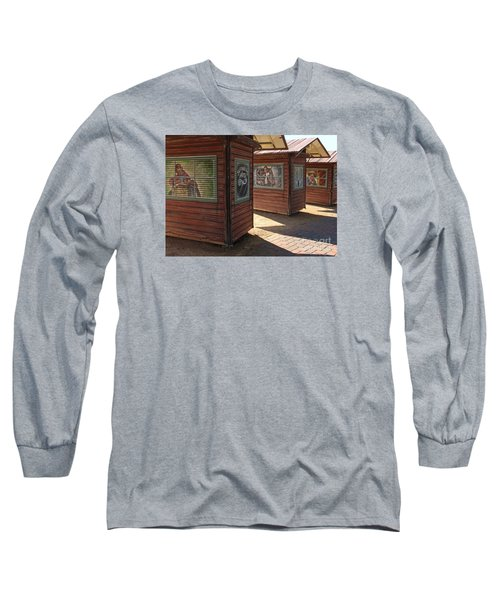 Art Shacks Old Town Long Sleeve T-Shirt by Cheryl Del Toro